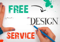 Free design service graphic with hands