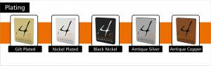 custom plating options, personalised plating options