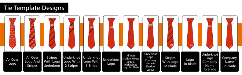 custom tie template designs