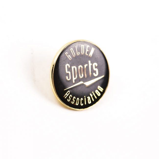 Sports Association circle badge gold