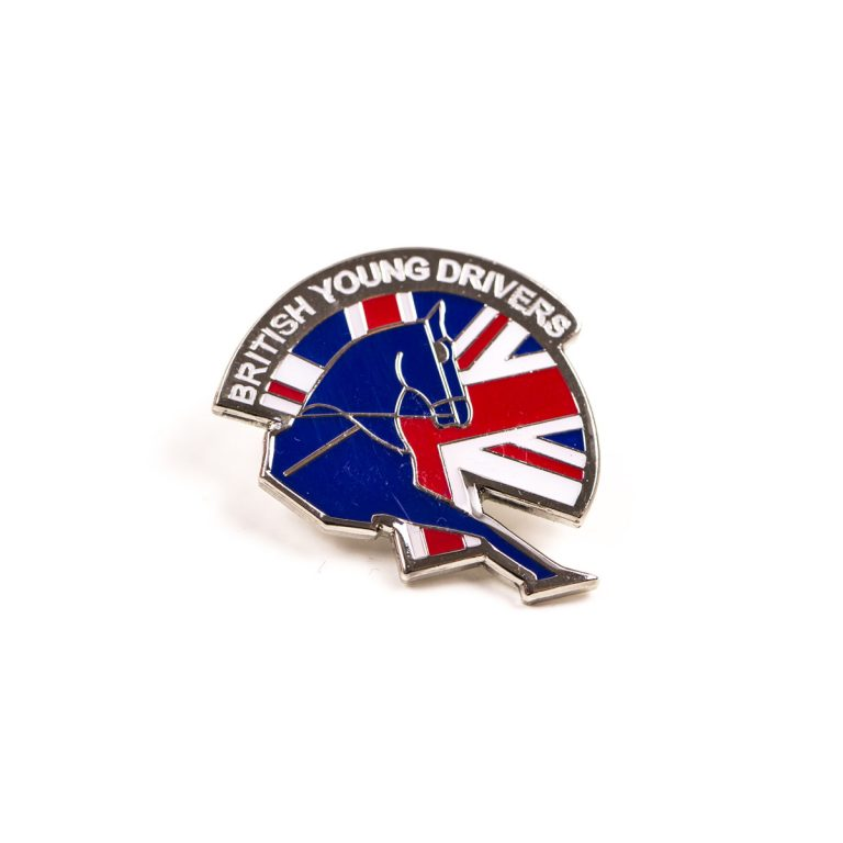 British Young Drivers horse and UK flag badge