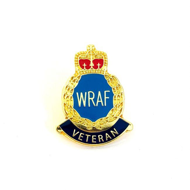 WRAF Veteran gold metal badge