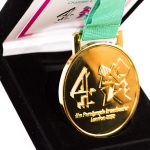 Gold custom medal in black box