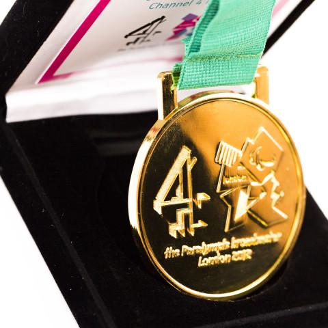 Custom Gold finish Award Medals F8756