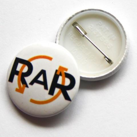 RAR Button Badge 0186