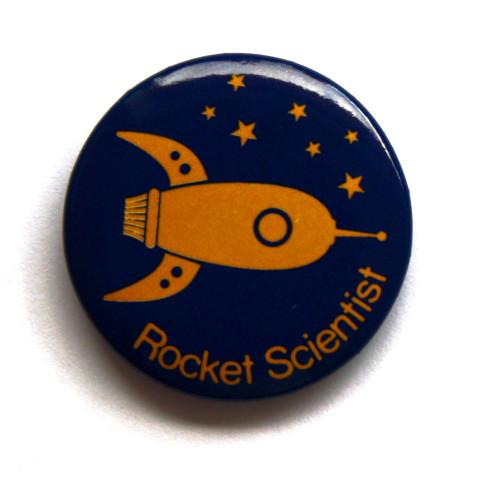 Rocket Scientist Button Badge 0191