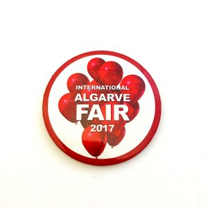 Algarve Fair button badge red