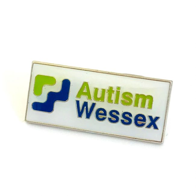 Autism Wessex logo on charity badge