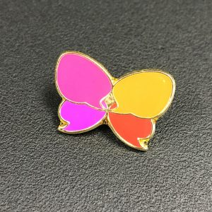 Butterfly pin badge, enamel badge, pingame, lapels