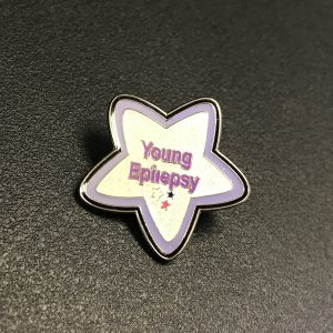 Star shaped Young Epilepsy pin badge