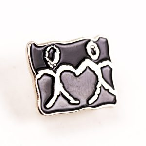 stick man charity pin badge