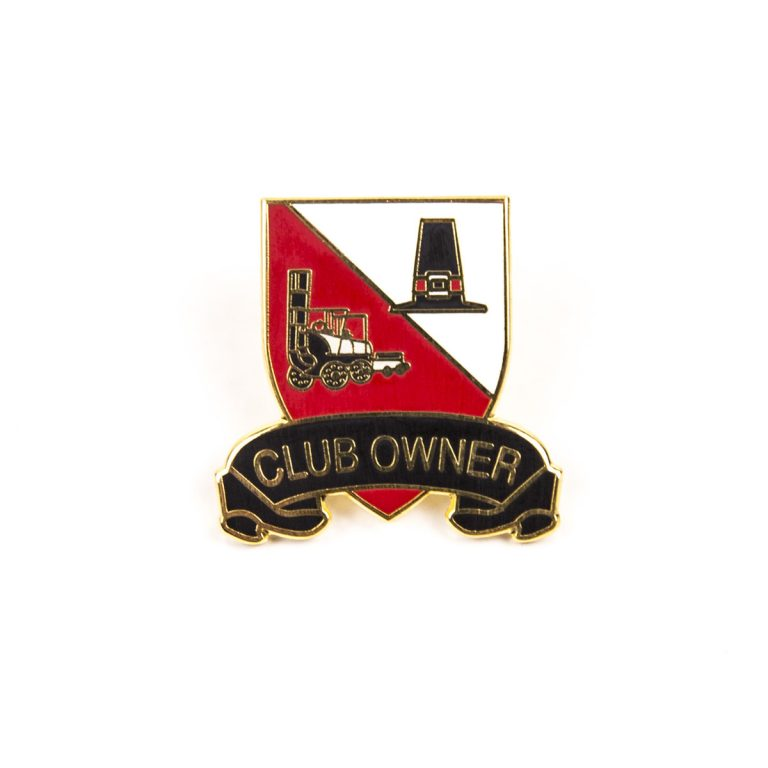 Club Owner red and white badge