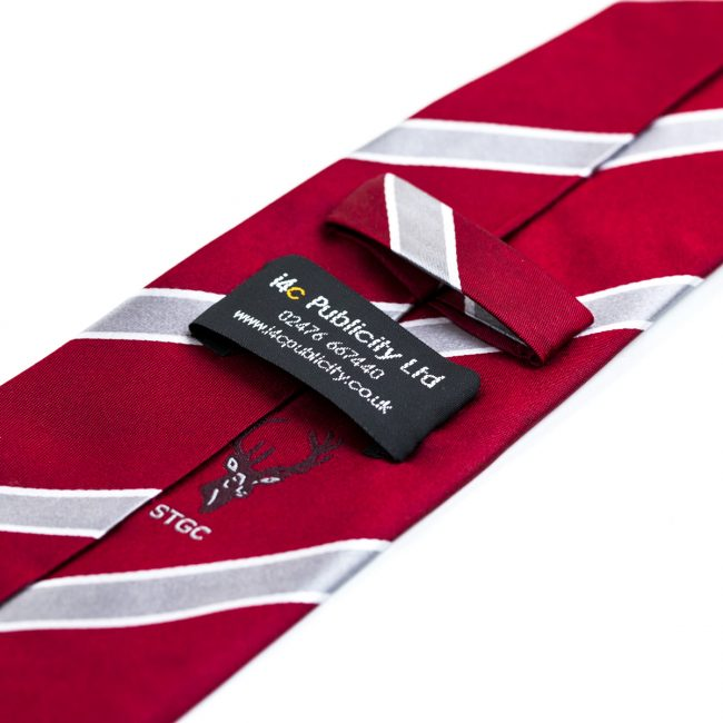 Red and white stripe tie