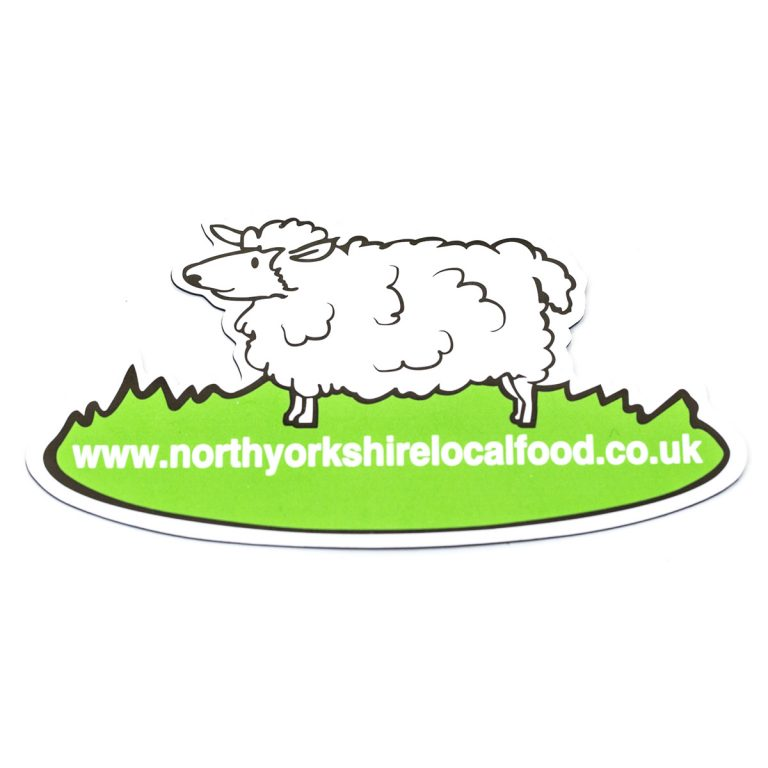 Sheep logo fridge magnet with website text