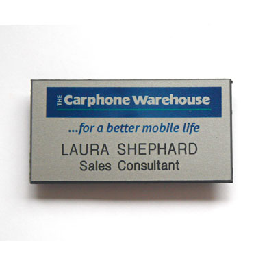 Name badges for Carphone Warehouse