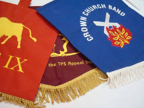 Group of personalised pennants