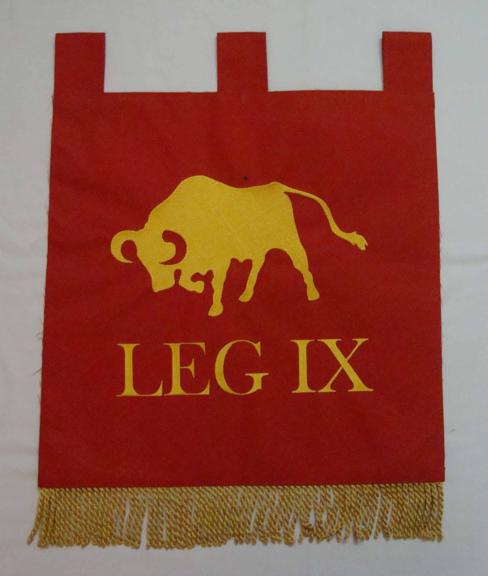 Red and yellow bull logo pennants