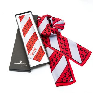 personalised scarves and ties, custom presentation boxes