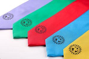 Solid colour ties, custom school ties, personalised school ties, bespoke school ties, school house ties