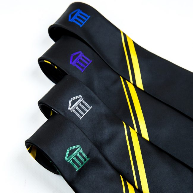 custom school ties, personalised school ties, bespoke school ties, school house ties