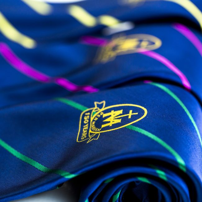 close up of custom School ties