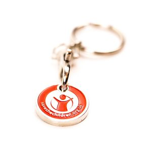 personalised trolley coin, custom trolley coins, Soft Enamel Trolley keychains
