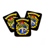 custom embroidered badges, personalised embroidered badges, centenary embroidery badges