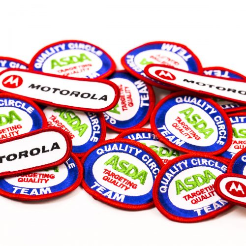 custom embroidered badges, personalised embroidered badges, embroidery badges