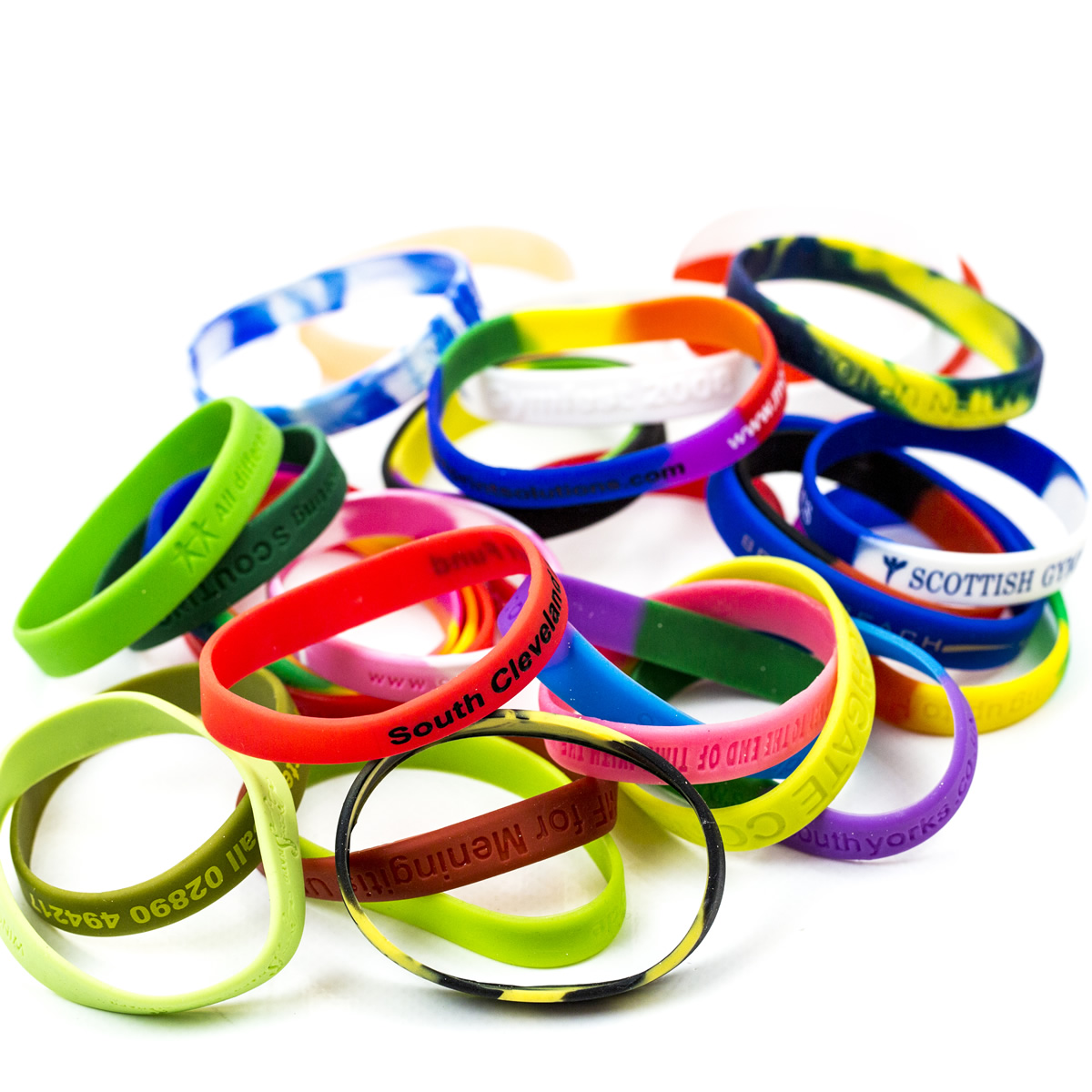 custom Wristbands, personalised Wristbands, multicoloured Wristbands