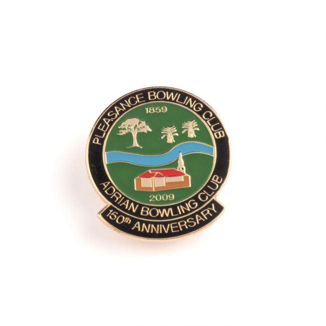 Bowling Club green circle badge with 50th Anniversary on