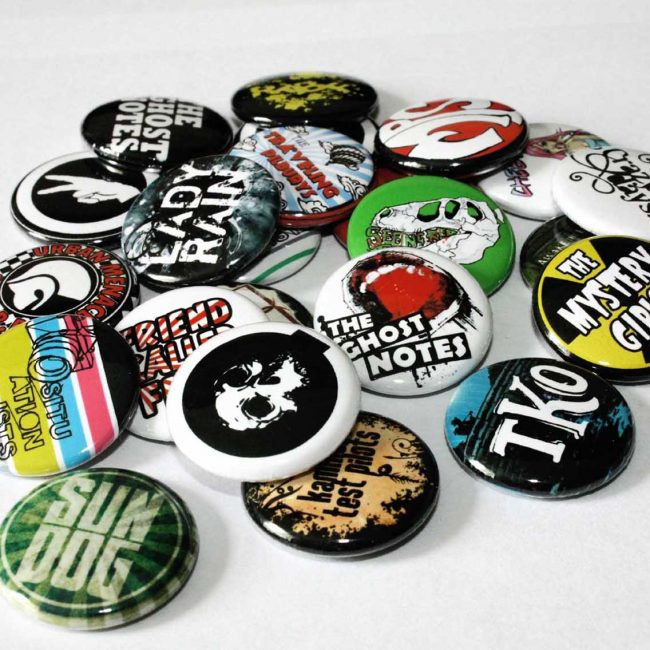Group of button badges