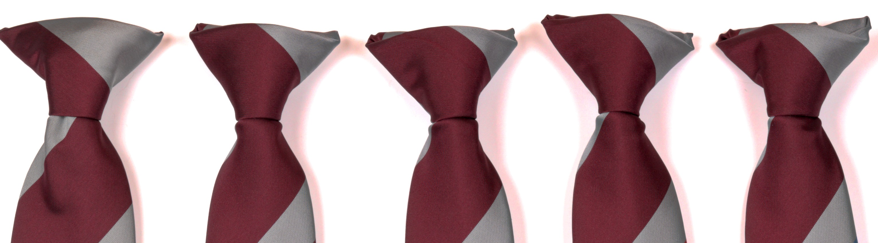 5 grey and burgundy ties for Schools