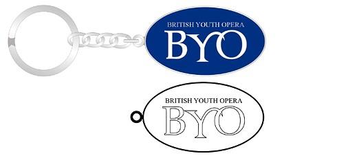 BYO oval soft enamel keychain graphic