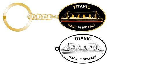 Titanic oval personalised keychains
