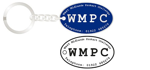 WMPC oval personalised keychains
