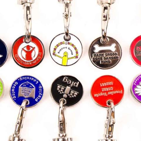 Custom Made Charity Trolley Keychains F8733