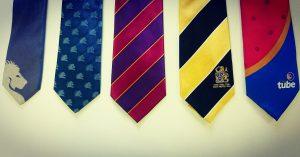 bespoke Skinny and Wide Ties, custom neckties, club ties, school ties, black ties