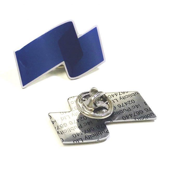 Tinted Blue Printed Badge