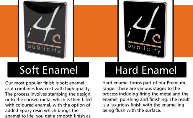Soft Enamel pins vs Hard Enamel pins