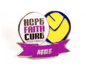 Fundraising badge with charity logo