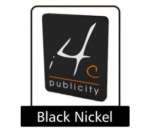 Black nickel pin