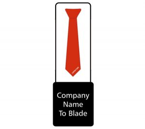 Tie with company name graphic