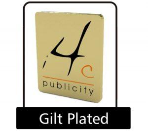 Gilt plated pin