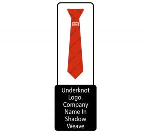 Tie with knot logo graphic