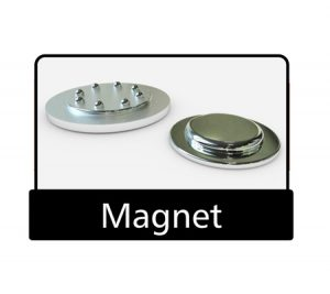 Magnet pin backing