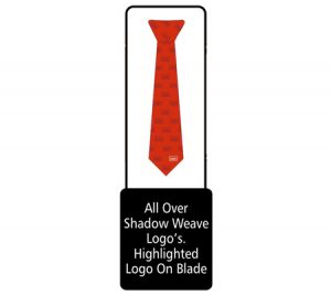 Tie with shadow weave graphic