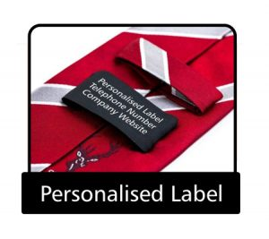 Tie personalised label