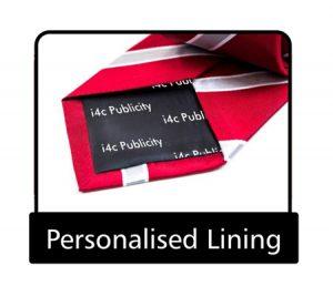 Tie personalised lining