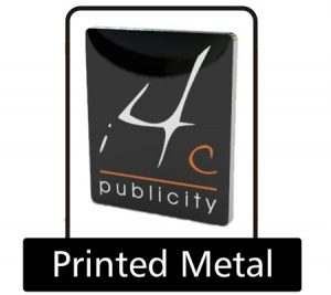 Printed metal pin