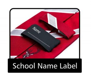 Tie school name label